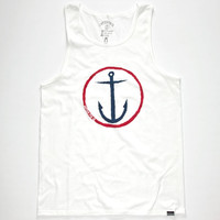 Captain Fin Original Anchor Mens Tank Red/White/Blue  In Sizes