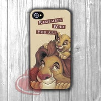 Lion King Simba father and son -sddh for iPhone 6S case, iPhone 5s case, iPhone 6 case, iPhone 4S, Samsung S6 Edge