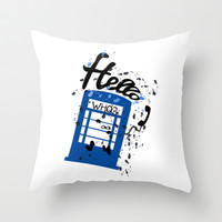 Hello Who? Throw Pillow by Cindys