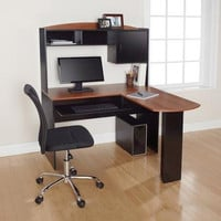 Mainstays L-Shaped Desk with Hutch