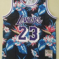 DCCK Lakers Mitchell & Ness 23 James Floral Fashion NBA Jerseys