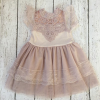 "The ""Isabelle"" Blush Pink Lace Dress"