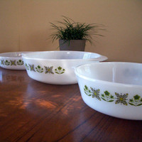 Anchor Hocking Fire King Pyrex Meadow Green Set Vintage Retro Mid Century