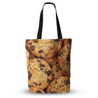 "Chocolate Chip Cookie Food Print Unique Mom Grocery Diaper Beach Tote Bag 18""x18"""