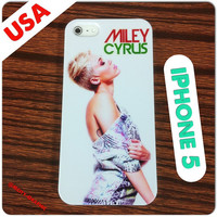 Custom iPhone 5 Case Miley Cyrus - We Cant Stop - Graphic Design Fashion Cover for IPhone 5