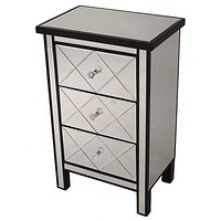 Shimmering Mirrored Accent Cabinet