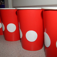 Mickey Mouse Party Cups - Mickey Mouse Birthday Decoration - Set of 8