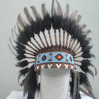 Indian Chic Natural Colour Feather Headdress