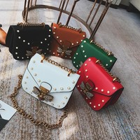 Gucci Rivet Summer Bags Chain Lock Messenger Bags Shoulder Bag [11516240396]