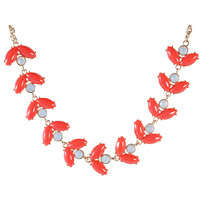 Coral Necklace Fashion Resin Necklaces Floral Stylish Jewelry