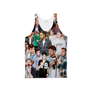 1D collage 2015 tank and tshirt. One direction concert craze.