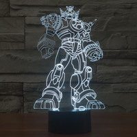 Acrylic Multi-color Transformer 3D New Arrival Steel Colorful Illusion LED Gradient Lamp = 5826356033
