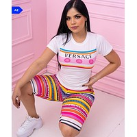 Versace Women With short sleeves Top Pants shorts Two-Piece