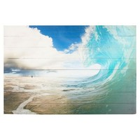 Chris Burkard Photo Real on Wood, Wave Curl