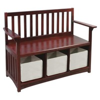 Guidecraft Classic Sotrage Bench with Bins - Brown