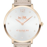 COACH 'Slim Easton' Leather Strap Watch, 35mm | Nordstrom