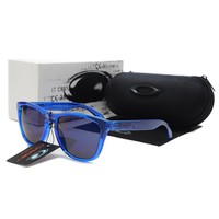 READY STOCK Oakley Original Unisex Sunglasses Frogskins Dark Blue Glasses