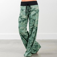 Stylish Camouflage Print Pants [179839107098]