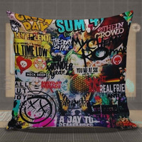 5 seconds of summer all time low my chemical romance fall out boy blink 182 nirvana green day pillow case, pillow cover, cute and awesome pillow covers