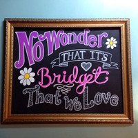 Custom Hand Painted Chalkboard Canvas - ANY quote, song lyric, poetry lines, etc.