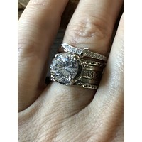 SALE  A Flawless Handmade 2CT Round Cut Lab Diamond Engagement Ring