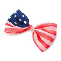 Stars and Stripes Flag Ribbon Bow Hair Clip | Claire's