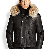 Michael Kors - Leather & Fur Bomber Jacket - Saks Fifth Avenue Mobile