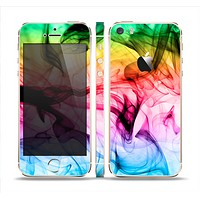 The Neon Glowing Fumes Skin Set for the Apple iPhone 5s