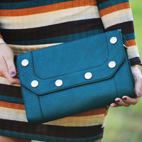 Feeling That Way Clutch: Teal