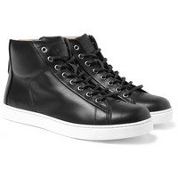 Gianvito Rossi - Leather High-Top Sneakers | MR PORTER