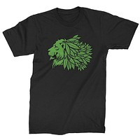 Lion Head with Weed Mane Mens T-shirt