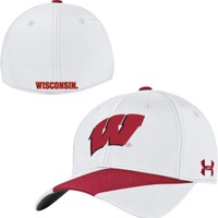 Under Armour Men's Wisconsin Badgers White Sideline Renegade Stretch-Fit Hat | DICK'S Sporting Goods