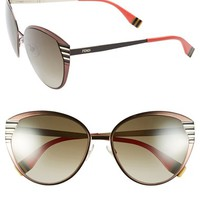Women's Fendi 57mm Oversized Sunglasses
