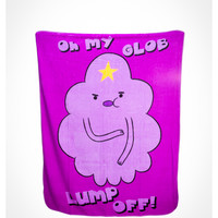 Adventure Time 'Oh My Glob Lump Off!' Fleece Blanket