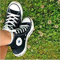 """Converse"" High tops Black Fashion Canvas Flats Sneakers Sport Shoes"