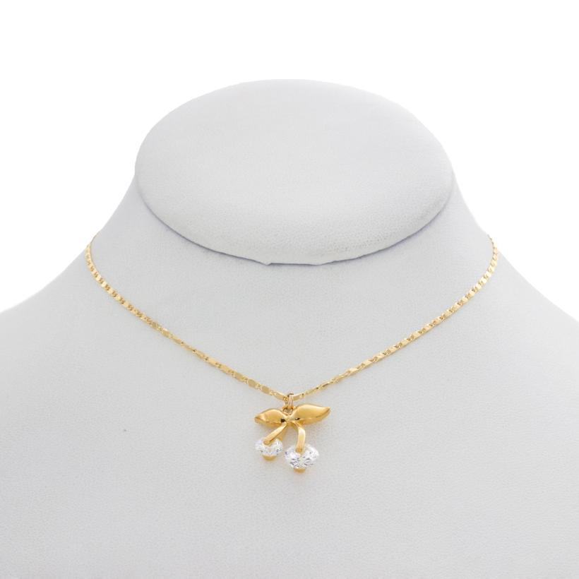 Image of Mini Crystal Cherry Charm Necklace
