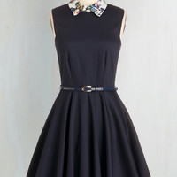 Mid-length Sleeveless Fit & Flare Complete Sophistication Dress