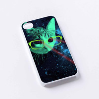 Cats Lasser Eye in Galaxy Nebula iPhone 4/4S, 5/5S, 5C,6,6plus,and Samsung s3,s4,s5,s6
