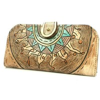 Galaxy and Sun Wallet leather in fleah tint by rntn on Etsy