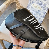 Dior graffiti letter print shoulder bag messenger bag saddle bag