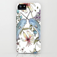 Narwhal pattern iPhone & iPod Case by Brooke Weeber