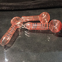 """1 for 3.50 Clear Spiral Glass Pipe 4"""""""