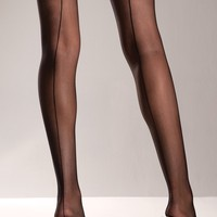 Sheer Back Seam Thigh Highs