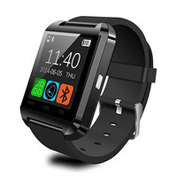 Upgrade U8 WristWatch Bluetooth Smart Watch Fit for IOS Apple iphone 4S/5/5C/5S and Android Samsung S2/S3/S4/S5/Note 2/Note 3 HTC Sony Blackberry etc. (black)