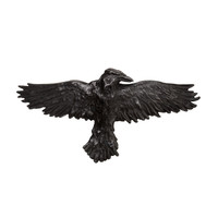Alchemy Gothic Black Raven Crow Hair Slide
