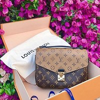 LV POCHETTE METIS handbags old flower canvas shoulder bag