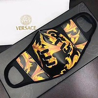 Versace Masks Laser Print High quality comfortable breathable isolation mask black