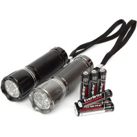 Ozark Trail 2-Pack 9 LED Aluminum Flashlight - Walmart.com