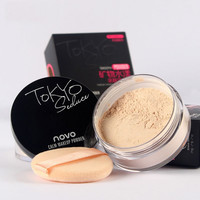 New Brand 4 Colors Transparent Smooth Loose Powder Makeup Waterproof Finishing Powder Cosmetic With Puff For Face Finish Setting