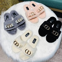 Dior new women's suede slippers shoes